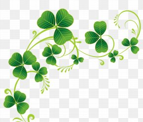 Transparent Shamrocks Decor PNG Clipart - Shamrock Saint Patrick's Day Clip Art PNG