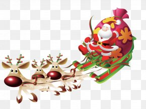 Santa Claus Giving Gifts - Pxe8re Noxebl Ded Moroz Santa Claus Reindeer PNG