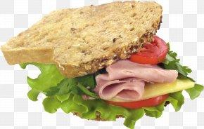 Sandwich Image - Hamburger Club Sandwich Vegetarian Cuisine Breakfast PNG