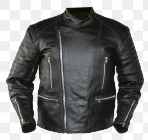 Black Leather Jacket Image - Leather Jacket Clothing PNG