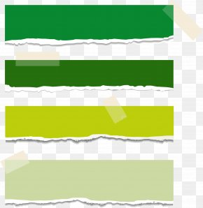 Tape Creative Tear Paper Green Vector - Paper Adhesive Tape Sticker Web Banner PNG
