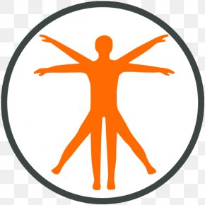 Tyerapy - Vitruvian Man Physiology Human Body Anatomy PNG