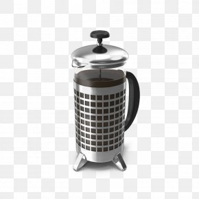 French Pressed Coffee Jar - Coffee French Press Kettle Jar PNG