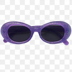 Sunglasses - Goggles Sunglasses Purple Lilac Pink PNG