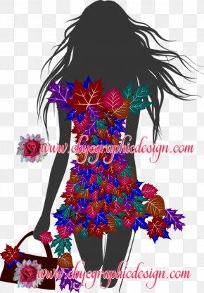 Spring Fashion Show Invitation - Fashion Illustration Clip Art Model PNG