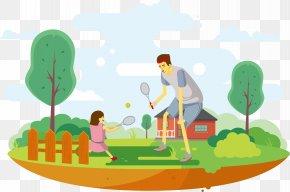 Park Tennis Vector - Tennis Illustration PNG