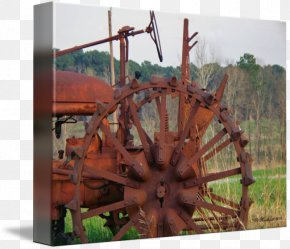 Old Tractor - Gallery Wrap Canvas Art Printmaking Printing PNG