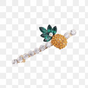 Golden Bowknot - Hairpin Barrette Imitation Gemstones & Rhinestones Clothing Accessories PNG
