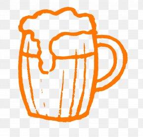 Vector Painted Beer Mug - Beer Cup Tankard PNG