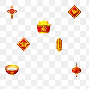 Chinese New Year Festive Element - Tangyuan Chinese New Year Antithetical Couplet Firecracker PNG