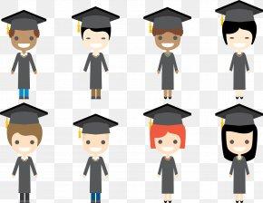Vector Students - Student Graduation Ceremony Square Academic Cap Academic Degree PNG
