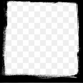 Square Frame Photo - Black And White Chessboard Square Pattern PNG