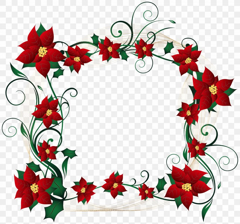Christmas Border Clip Art, PNG, 6000x5601px, Christmas Decoration, Aquifoliaceae, Border, Christmas, Christmas Lights Download Free