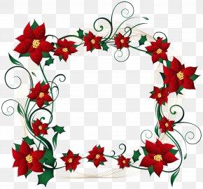 Christmas Decorative Border Transparent Clip Art Image - Christmas Border Clip Art PNG