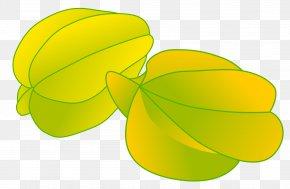 June - Carambola Fruit Clip Art PNG