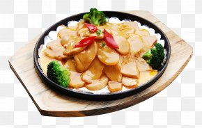 Broccoli With Iron Plate Potato Chips - Teppanyaki Thai Cuisine Barbecue Vegetarian Cuisine Pleurotus Eryngii PNG