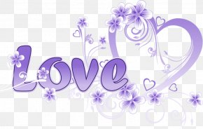 Purple Love - Valentine's Day Heart Love Garden Roses PNG