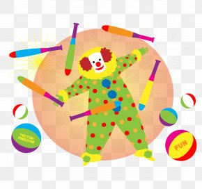 Vector Clown Illustration - Clown Circus Illustration PNG