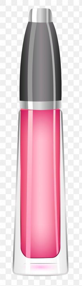 Lipstick Pink Picture - Minecraft Glass Bottle Boston Round PNG