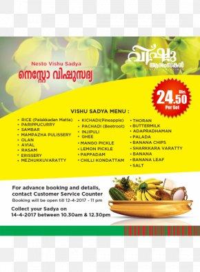 Sadhya Sharjah Nesto Supermarket Vishu PNG