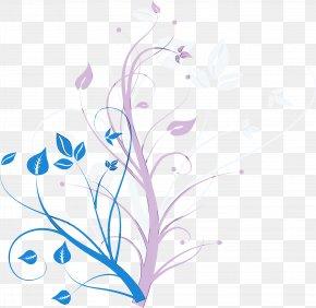 Wildflower Pedicel - Flower Line Art PNG
