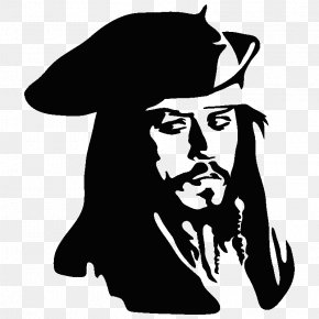 Johnny Deep - Jack Sparrow Wall Decal Sticker Drawing PNG