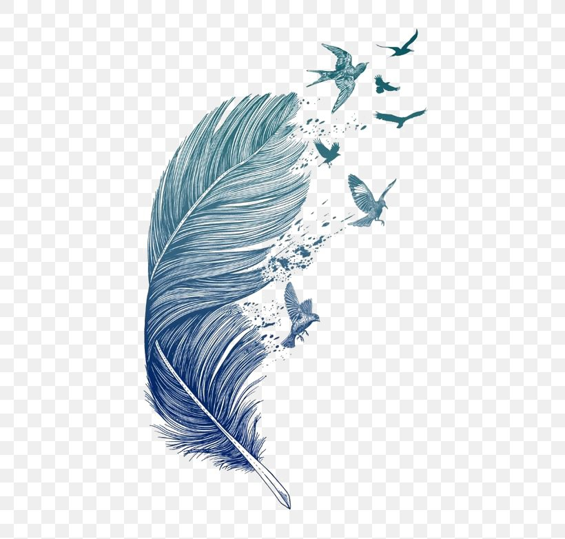 Bird Feather Printmaking Tattoo Printing Png 564x782px Bird