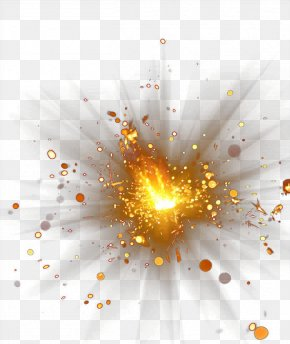 Gold Explosion Flare Glare Creative Creative - Explosion PNG