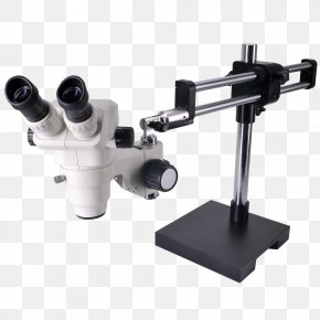 Digital Stereo Microscope - Stereo Microscope Optical Microscope OM99-V15 6.5X-45X Zoom Stereo Boom Microscope Light PNG