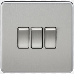 Light - Electrical Switches Light Latching Relay Electricity Brushed Metal PNG