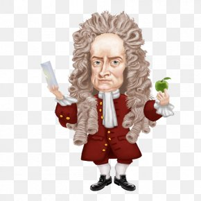 Indifferent Cliparts - Isaac Newton Newtons Laws Of Motion Physicist Scientist Inventor PNG