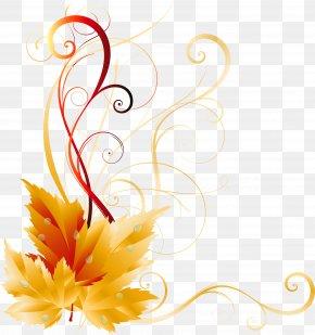 Transparent Fall Leaves Decor Picture - Autumn Leaf Color Clip Art PNG