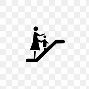 Black Flat Style Escalator Information Button - Elevator Logo Information PNG