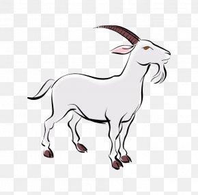 Old White Goat Cartoon - Goat Sheep Presentation Chinese Zodiac PNG