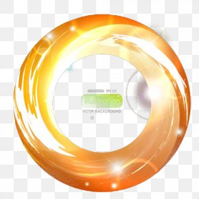 Yellow Light Circle - Qianan, Hebei Light Circle Transparency And Translucency PNG