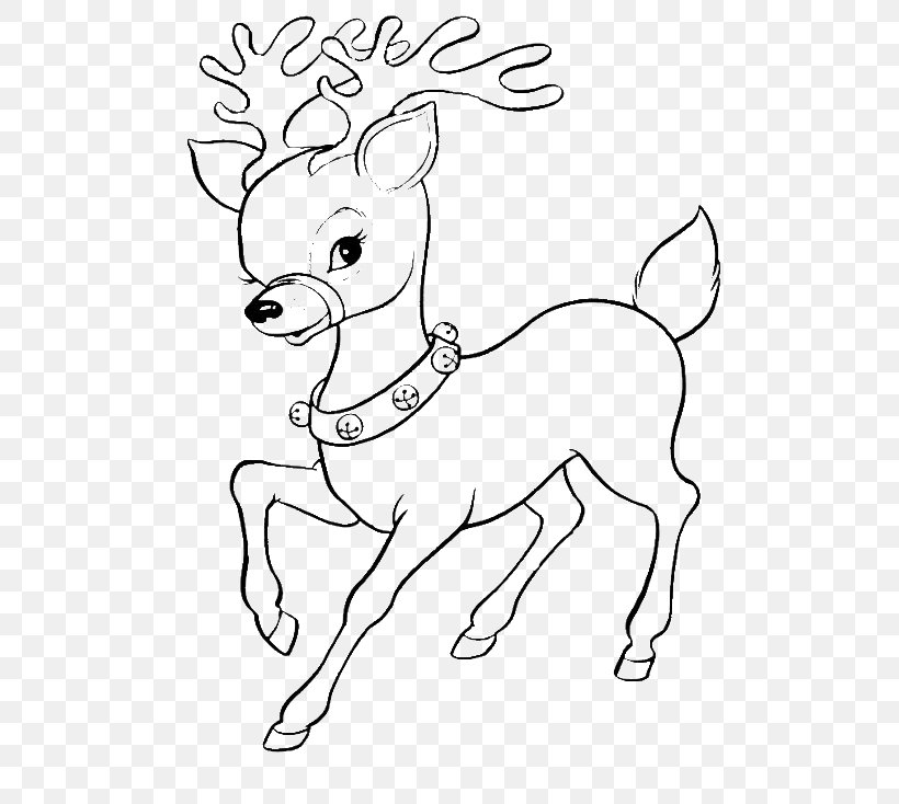 Christmas Coloring Anti Stress Therapy 2 | Deer coloring pages ... | 734x820