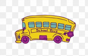 School Bus - School Bus Yellow PNG