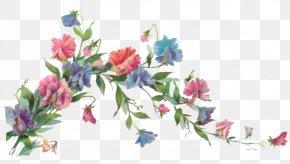 Flower Vine - Flower Paper Painting Clip Art PNG