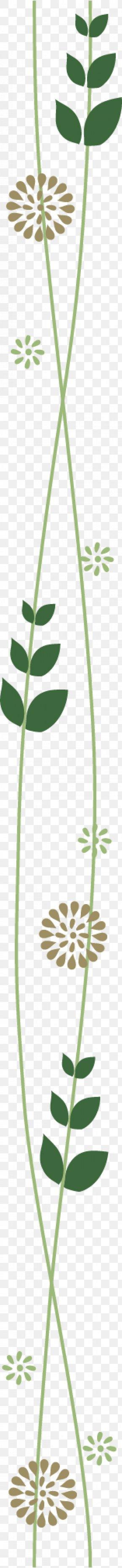 Green Vector Segmentation Line - Grasses Plant Stem Leaf Green Flower PNG