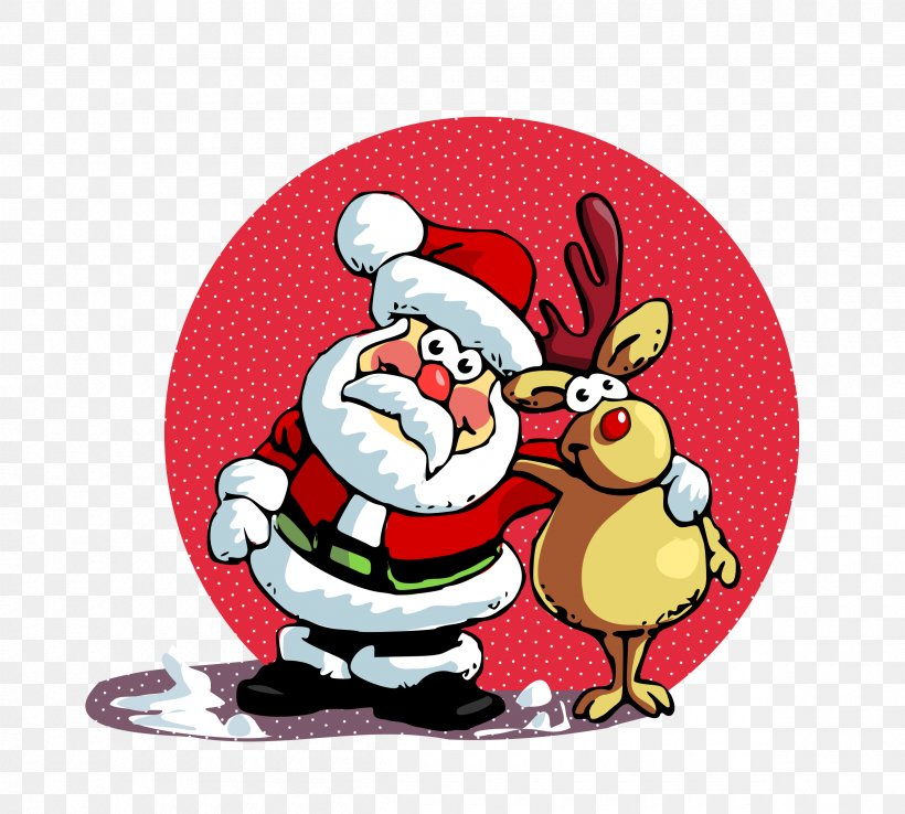Santa Claus Is Comin' To Town Christmas, PNG, 2400x2160px, Santa Claus, Christmas, Christmas Decoration, Christmas Ornament, Deer Download Free