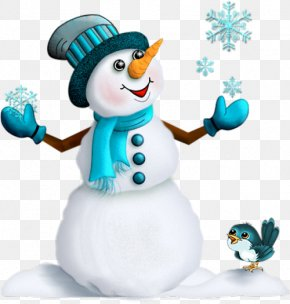 Blue Snowman - Christmas Santa Claus Snowman New Year's Day PNG