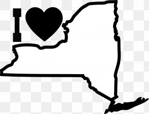 Simple Heart Outline - New York City Empire State NORML Bill Parole Clip Art PNG
