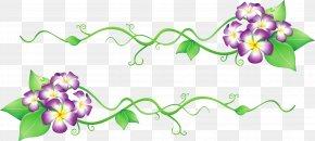 Flowers Spring Decor Clipart - Flower Clip Art PNG