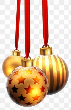 Christmas Balls With Snow Image - Christmas Ornament Clip Art PNG