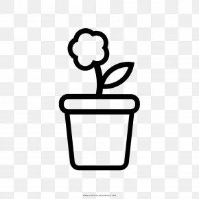 Flower Pot - Flowerpot Drawing Coloring Book Como Dibujar PNG