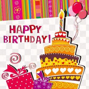 Cartoon Happy Birthday Background - Greeting Card Birthday Cake Wedding Invitation Clip Art PNG