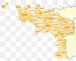 Map - Bruges Provinces Of Belgium Hainaut East Flanders Map PNG
