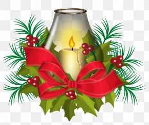 Christmas Candles - Christmas Ornament Candle Clip Art PNG