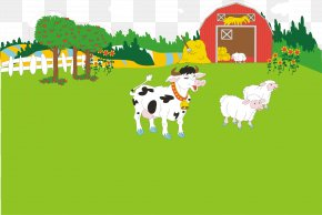 Farm Dairy Cow - Dairy Cattle Farm Icon PNG