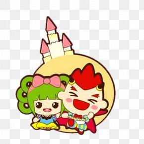 Creative Kids Cartoon - Red Boy Mashimaro Wallpaper PNG